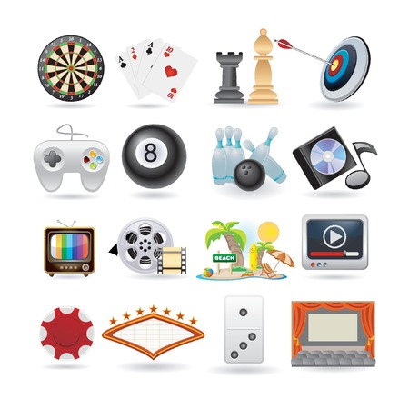 set of entertainment icons  Vector