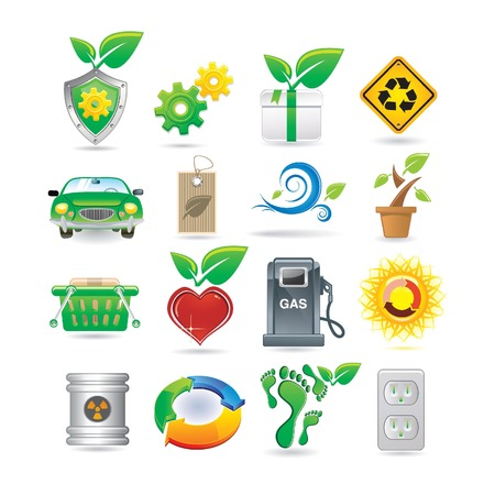 Set of environment icons Stock Vector - 8843899
