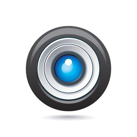 serrande: icona lente Vettoriali