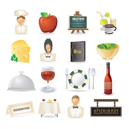 letrero: conjunto de iconos de restaurante