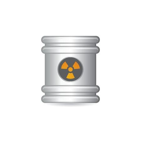 steel barrel Vector