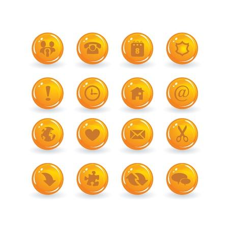 button icons Stock Vector - 9201465