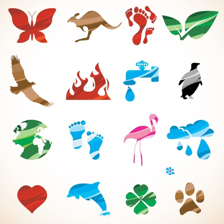 design elements signs and animals Stock Vector - 9201464