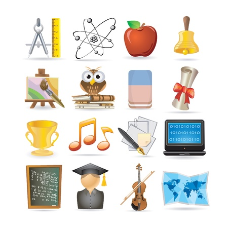 education set Stock Vector - 9201476