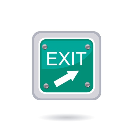 exit sign icon: exit icon Illustration