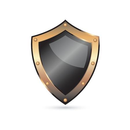 golden shield Stock Vector - 9201387