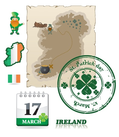 Ireland icons  Stock Vector - 9201477