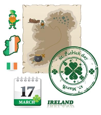 Ireland icons Stock Vector - 9201477