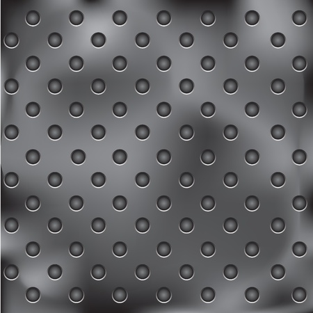 metal plate with holes Stock Vector - 9201475
