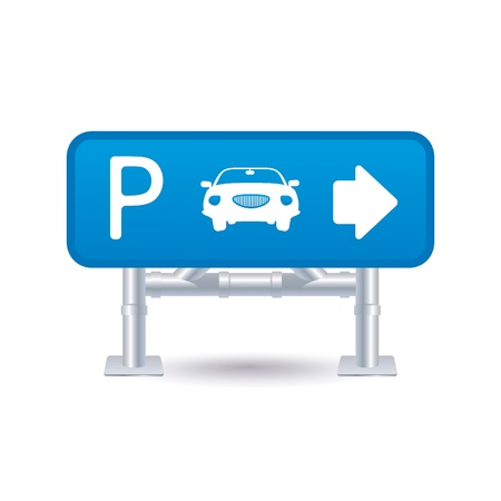 cars parking: parking sign icon