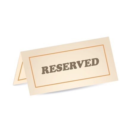 reservation: reserved icon