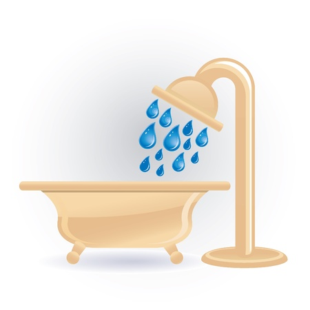 showering: shower icon