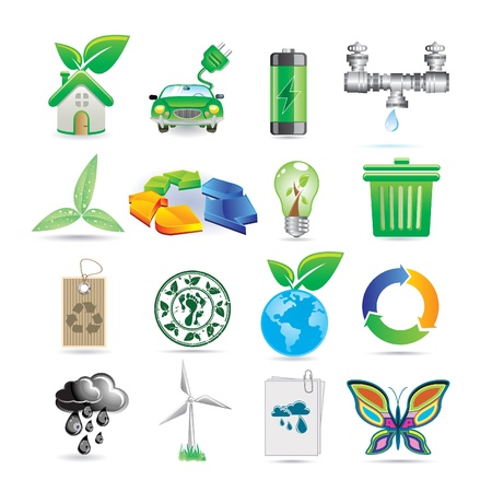 pipe connector: set of ecology icons