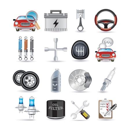scheinwerfer: Autoservice und Ersatzteile Illustration
