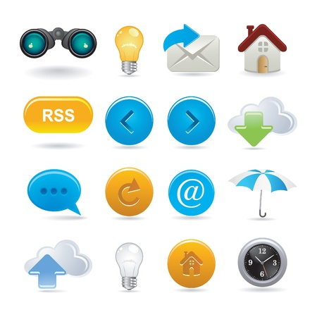 set of web icons Stock Vector - 9682098