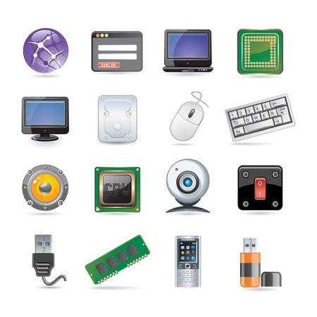 technology icon set Illustration