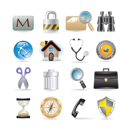 Icons set for web applications Stock Vector - 9682132