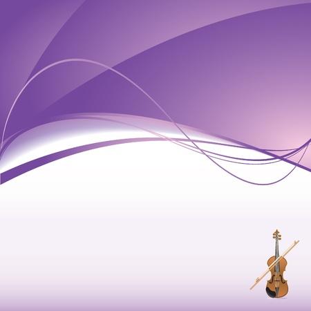 vertical lines: background with violin Illustration