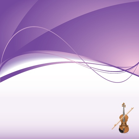 background with violin Illustration
