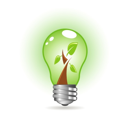 green bulb Stock Vector - 9921809
