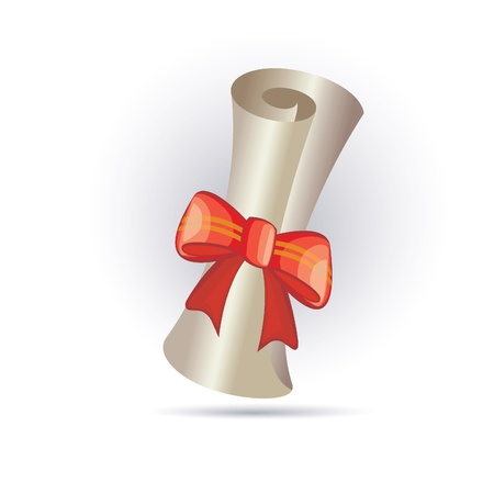 rolled scroll: paper scroll