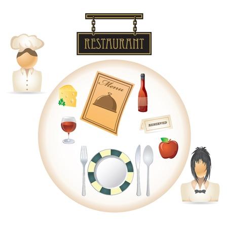 restaurant table Stock Vector - 9921834