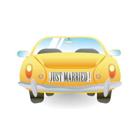 marrying: yellow car