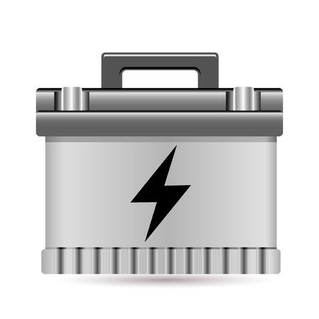 bateria: bater�a de autom�vil Vectores