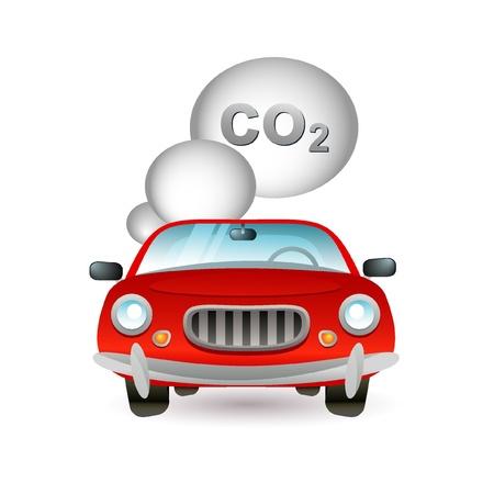 icona inquinamento auto Vettoriali