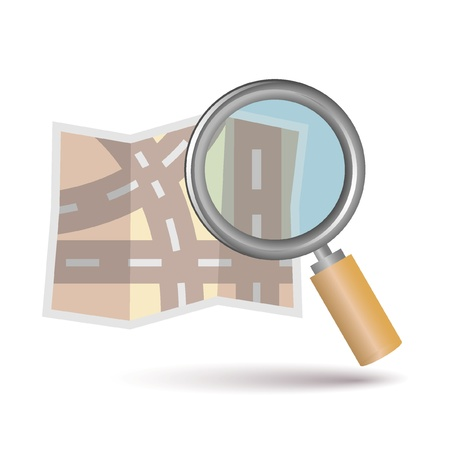 magnification icon: map icon