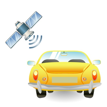 satellite navigation: Icono de navegaci�n