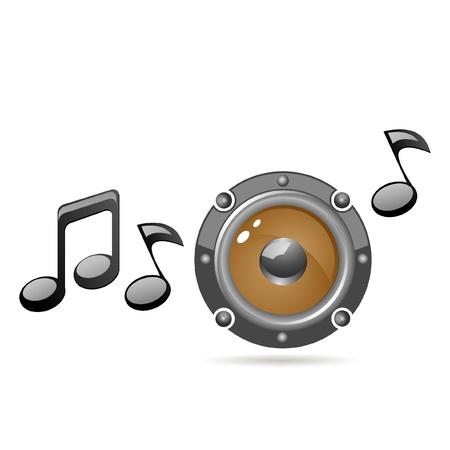 stereo: speaker icon Illustration
