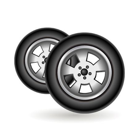 car tire icon Stock Vector - 10881492