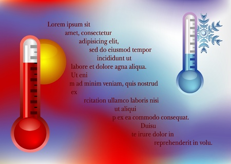 background with thermometer Vector