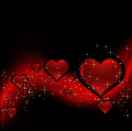 atar: black background with hearts