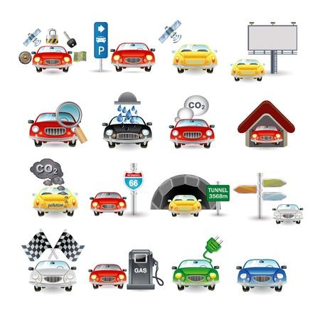 car wash: cars set Illustration