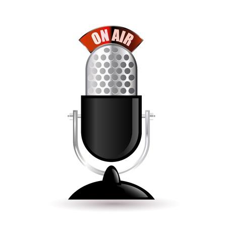 retro microphone Stock Vector - 10881520