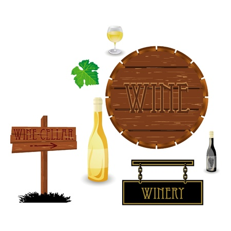 wooden barrel: wine icons