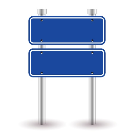 roadsigns: blank blue sign