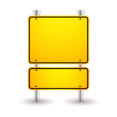 roadsigns: blank yellow sign