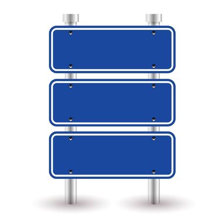 blue sign Illustration