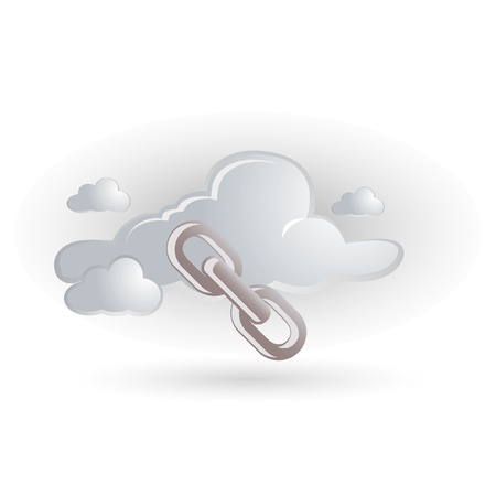 chain icon with cloud Stock Vector - 11094155