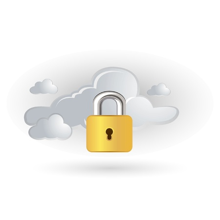 claud and lock icon Stock Vector - 11094139