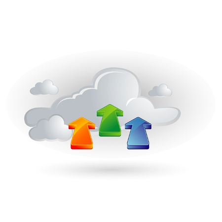 cloud and arrows Stock Vector - 11094166