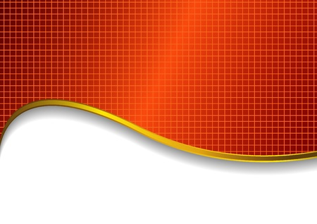 red background with wave