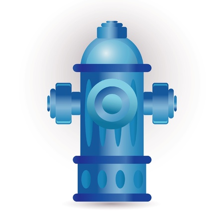 hydrant plug: blue hydrant