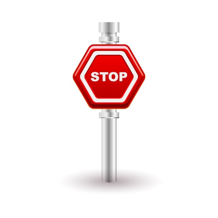 stay alert: red road stop sign