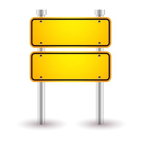 고속도로: 노란색 빈 도로 표지판