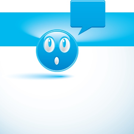 blue background with smiley Stock Vector - 14312082