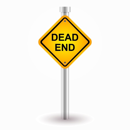 end of road: dead end sign